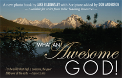 """What An Awesome God!"" Book"