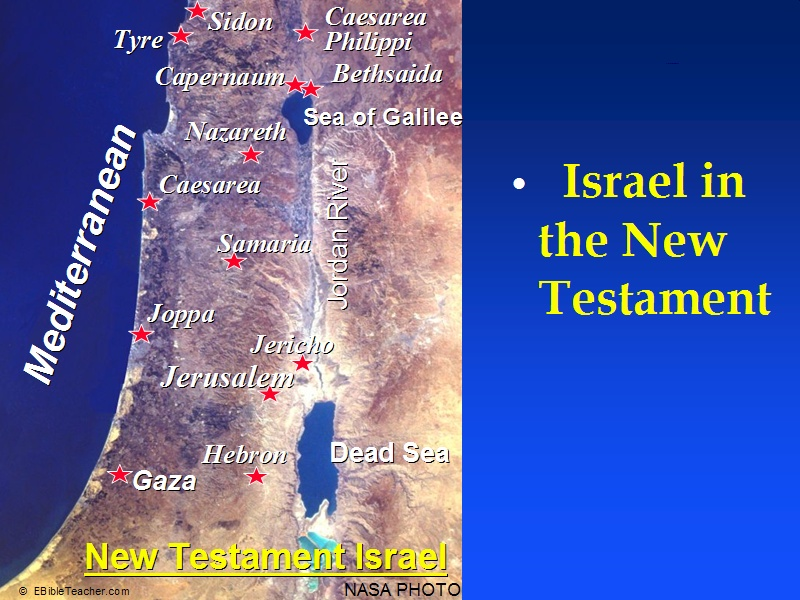 New Testament Israel Map Bible Study Tools - Map of old testament israel