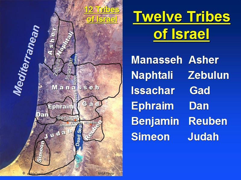 Twelve Tribes of Israel Map - Bible Study Tools on