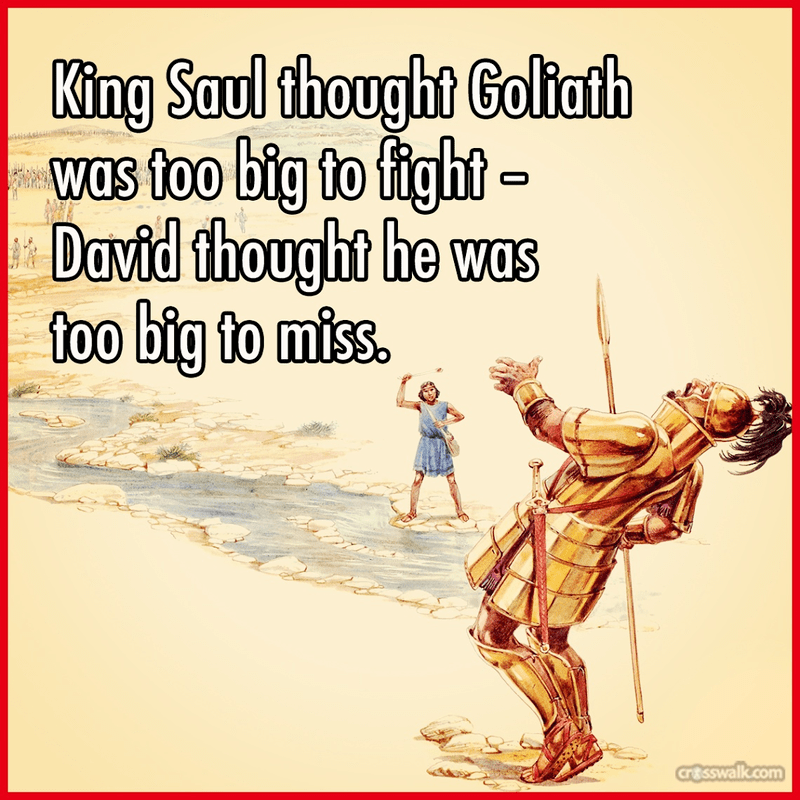 David and Goliath - Bible Story Verses & Meaning