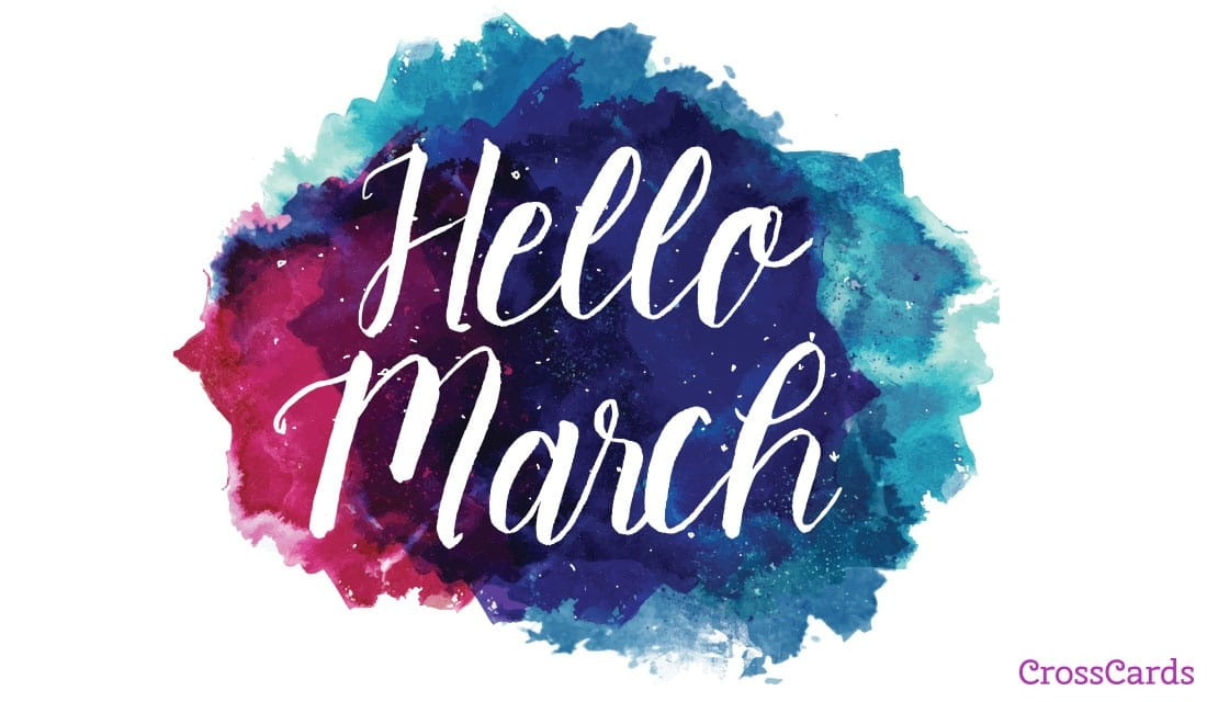 Hello March ecard, online card
