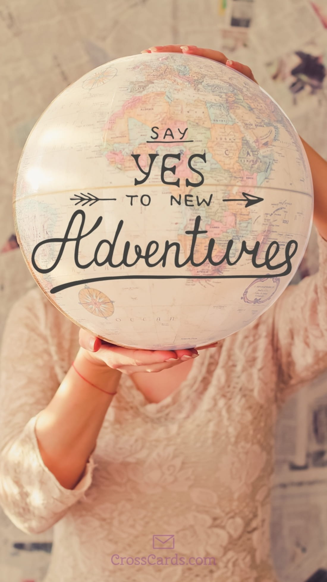 Say Yes to Adventure mobile phone wallpaper