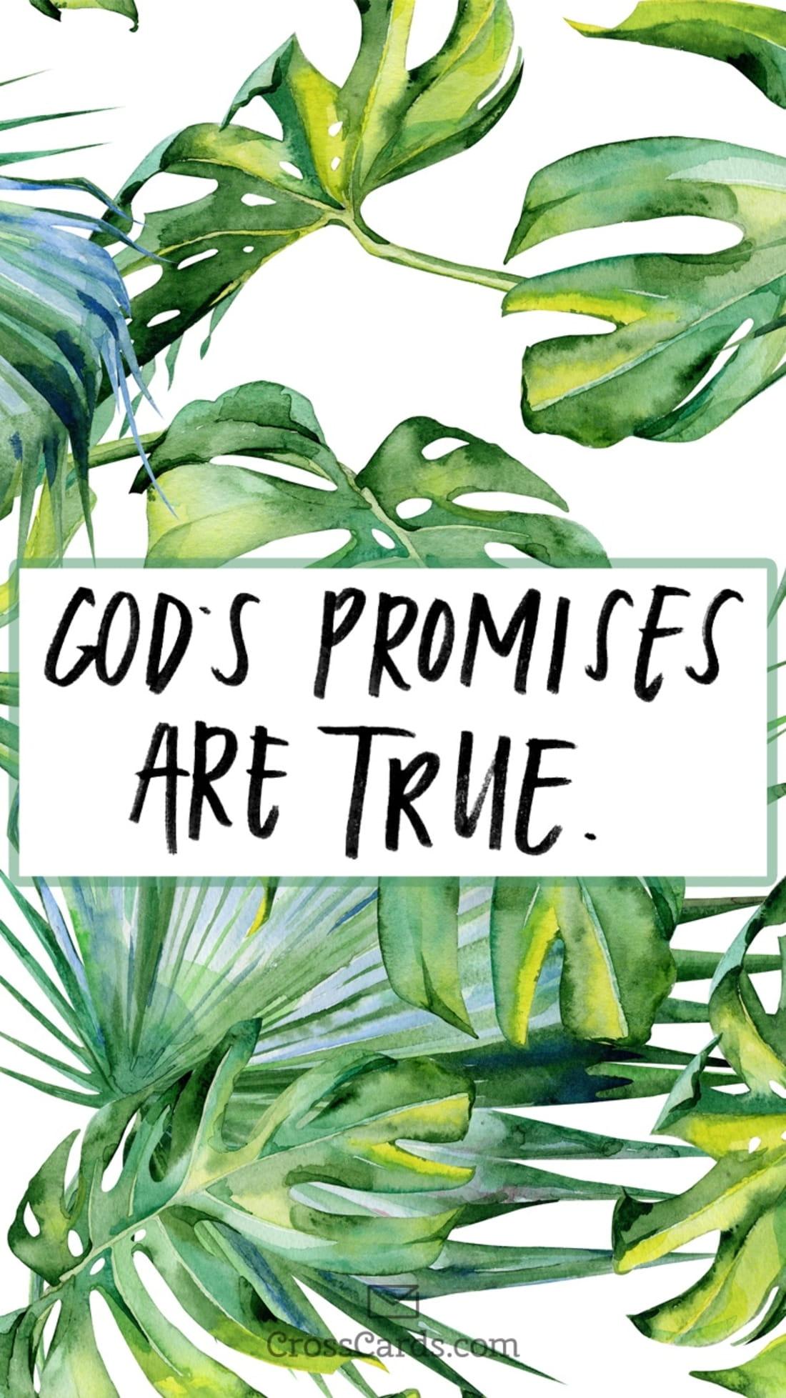 God's Promises are True mobile phone wallpaper