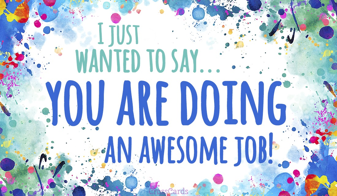 free you re doing an awesome job ecard email free personalized