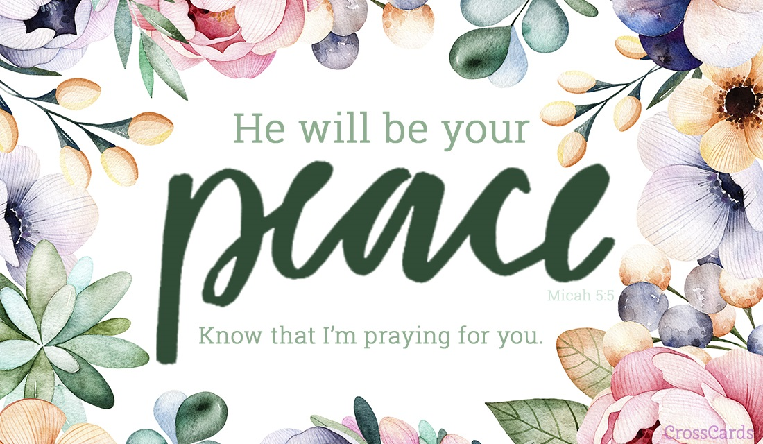 He Will Be Your Peace ecard, online card