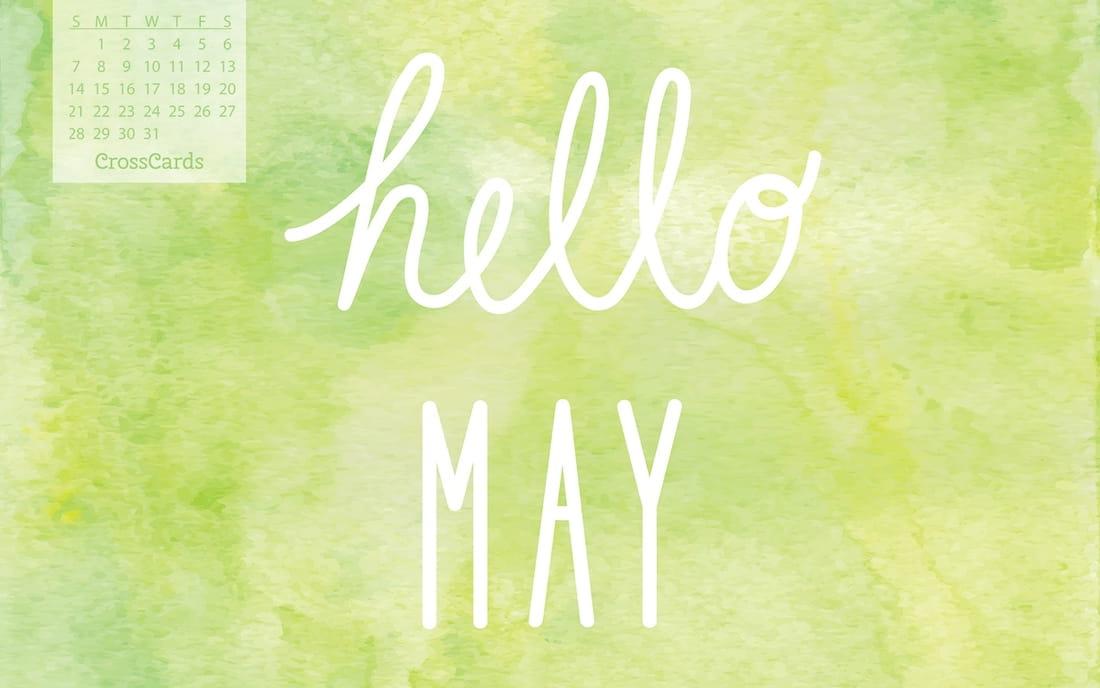 May 2017 - Hello May mobile phone wallpaper