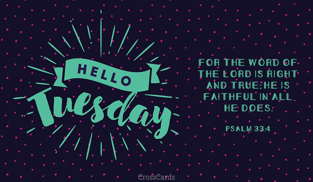 Hello Tuesday ecard, online card