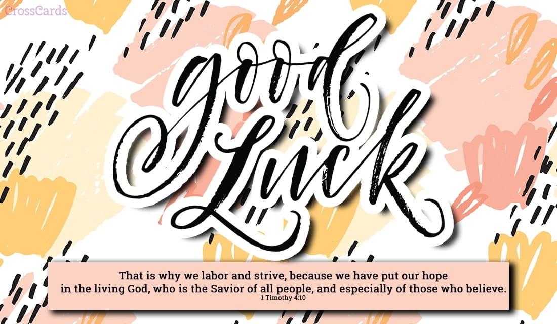 Good Luck! ecard, online card
