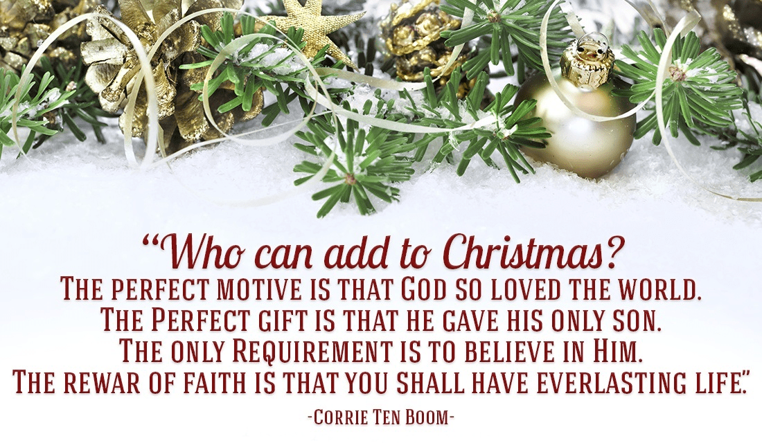 corrie ten boom christmas quote