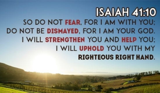 do not fear god is with you