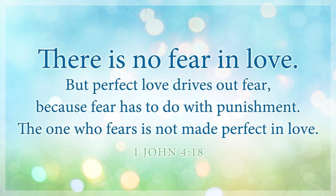 Good There Is No Fear In Love. But Perfect Love Drives Out Fear, Because Fear  Has To Do With Punishment. The One Who Fears Is Not Made Perfect In Love.