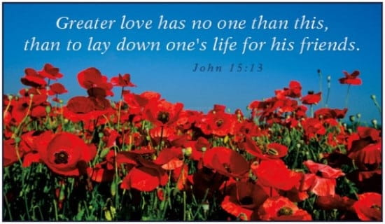 Image result for remembrance sunday bible readings