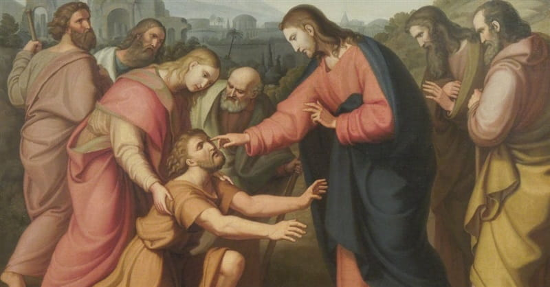 Image result for free pictures of Jesus curing the blind man