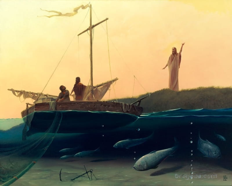 b6146397f5 In this story, on the Sea of Galilee, Jesus calls upon the First Disciples  as he performs a miraculous catch of fish after the fishermen had been ...