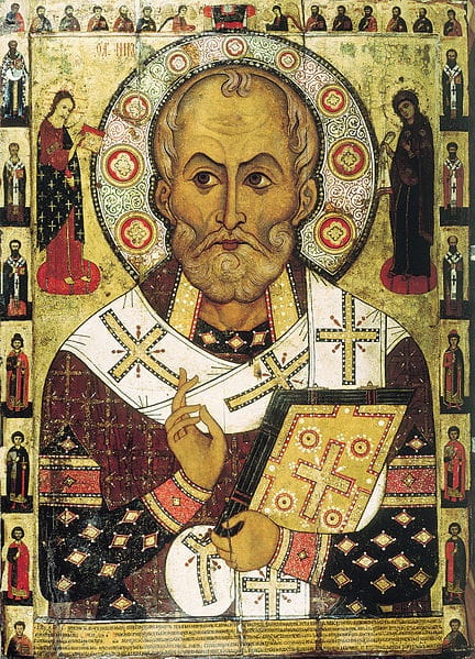 st nicholas painting from 1294