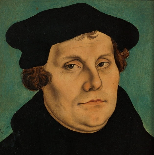 "4. Martin Luther strongly believed in ""justification by faith alone."""