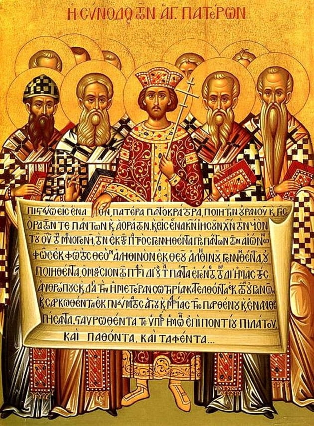 "4. Episcopal tradition adheres to the ""Nicene Creed."""