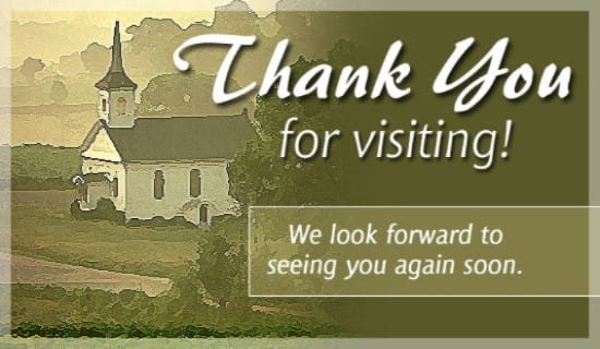Thank You For Visiting ecard, online card