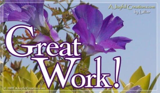 Great job ecard free a joyful creation greeting cards online m4hsunfo