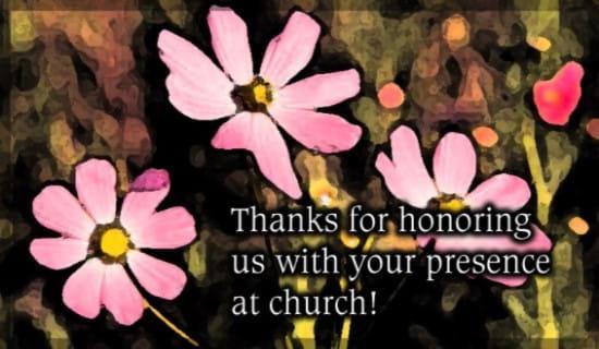 Thank - Presence At Church ecard, online card