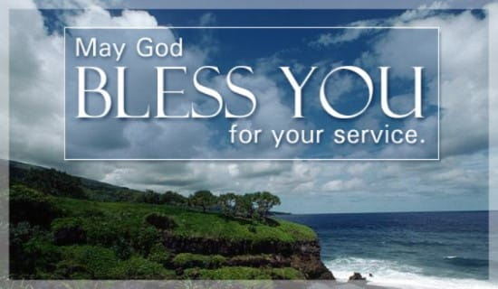 God Bless You For Your Service ecard, online card