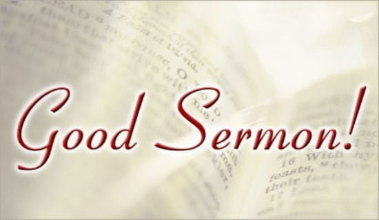 Good Sermon! ecard, online card