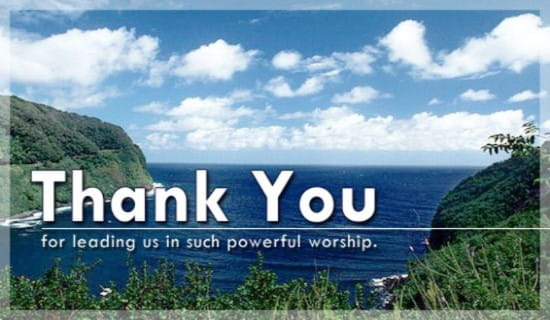 Thank You - Powerful Worship ecard, online card
