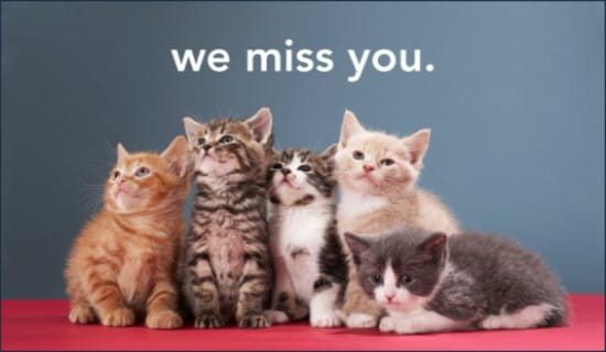 Miss You ecard, online card