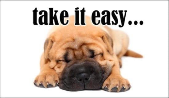 Take It Easy ecard, online card
