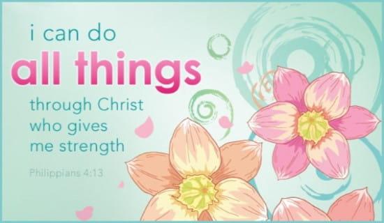 Philippians 4:13 ecard, online card