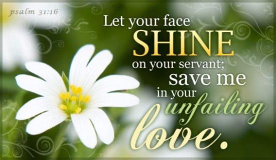 Psalm 31:16 ecard, online card