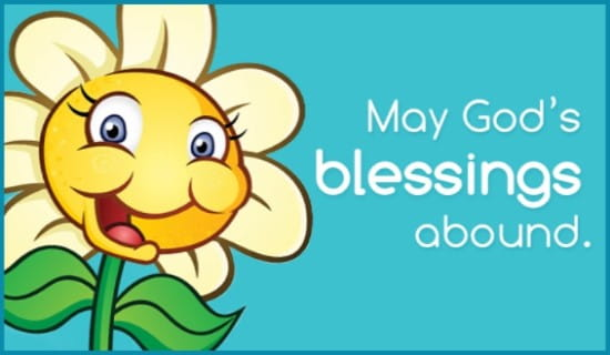 Blessings Abound ecard, online card