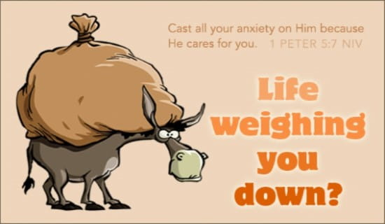 Weighed Down ecard, online card