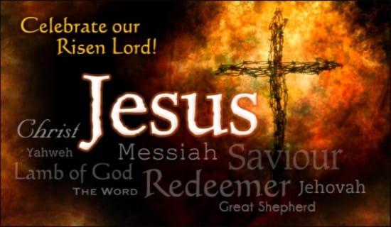 Names of Jesus ecard, online card