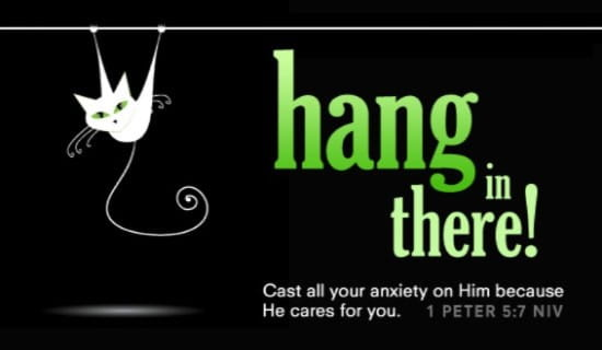 Hang in There! ecard, online card