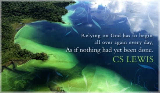 Rely on God ecard, online card