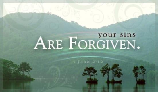Sins Forgiven ecard, online card