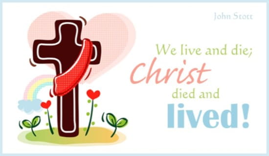 Christ Lived ecard, online card