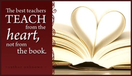 Teach from Heart ecard, online card