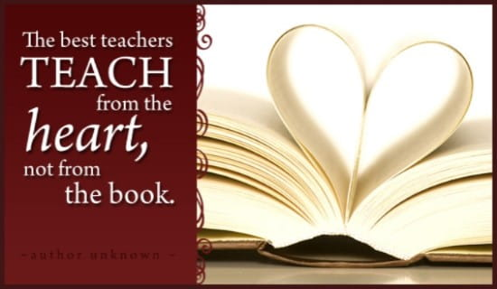 Teach from Heart ecard, online card