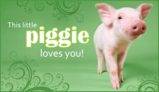 This Little Piggie ecard, online card