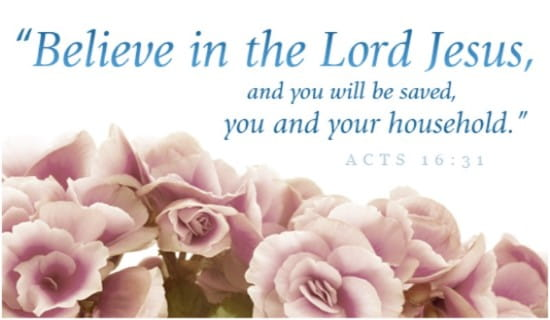 Acts 16:31 ecard, online card
