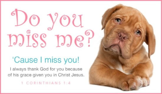 Do You Miss Me ecard, online card