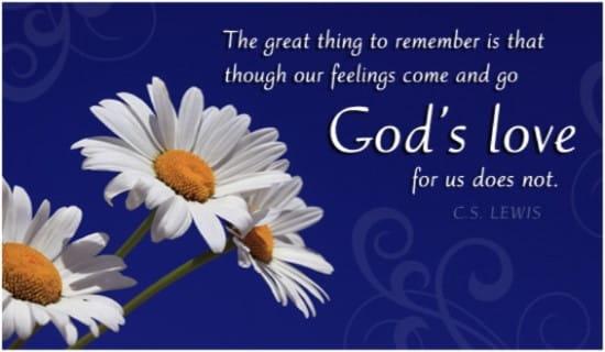 God's Love ecard, online card