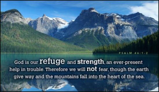 Refuge and Strength ecard, online card