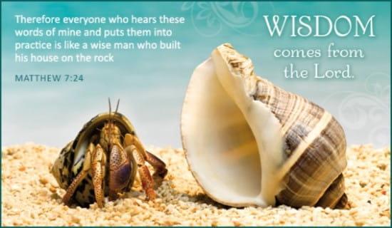 Wisdom ecard, online card