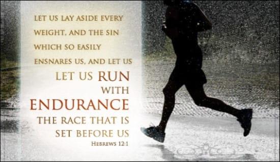 Run the Race ecard, online card