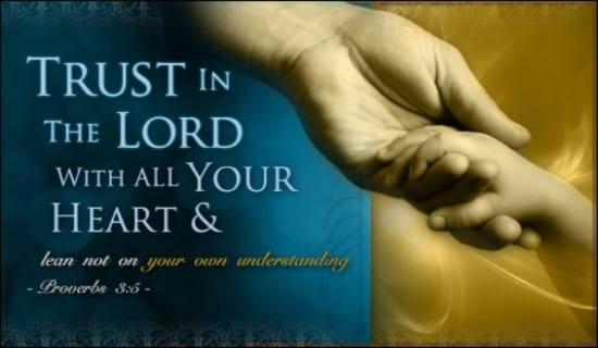 Proverbs 3:5 ecard, online card