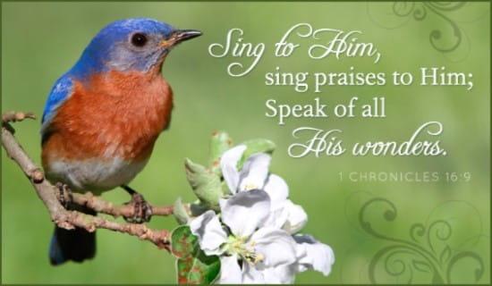 Sing Praises ecard, online card