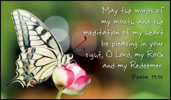 Psalm 19:14 ecard, online card